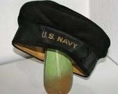RESERVED FOR TITA - Vintage U. S. Navy Hat - Wool Navy Hat