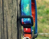 "The ""Hippie Tie Dye"" Adjustable Dog Collar"