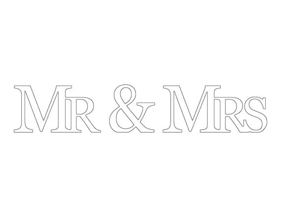Rustic Wooden Mr & Mrs Sign For Wedding and Reception Decor (Three Piece Set)