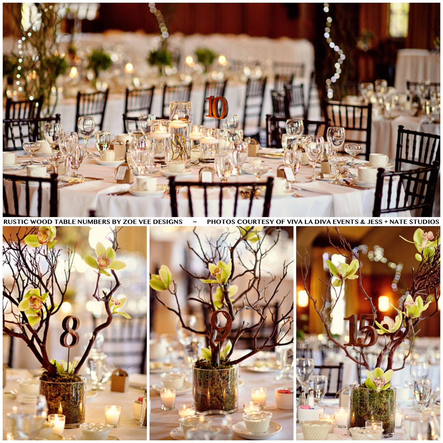 Rustic Wooden Table Numbers For Wedding And Reception Decor
