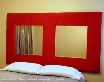 Upholstered Twin Mirror Headboard