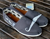Many Mustache Ash Grey TOMS shoes