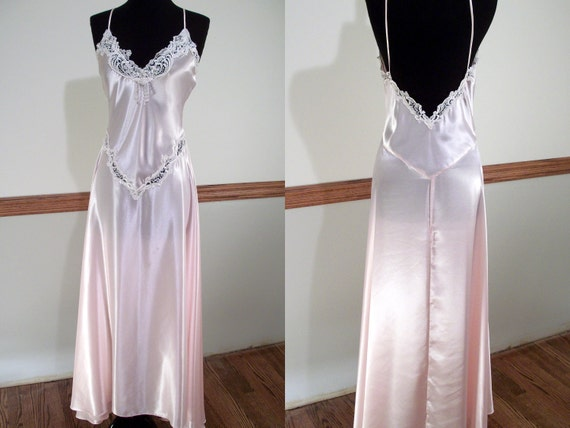 Jonquil by Diane Samandi Pink Nightgown and Peignoir Trousseau Set Large