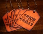halloween tags trick or treat candy orange and black