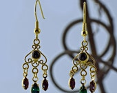 Boleyn: Gold and Crystal Chandelier Earrings