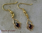Dash of Spice: Gold and Garnet Earrings