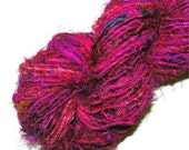 Recycled Sari Silk Yarn Pink Magenta Hot Pink