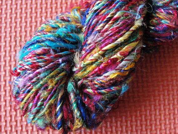 Banana silk yarn, art silk yarn, SOFT, vegan, multi