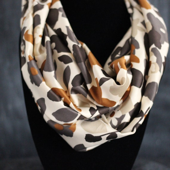 Infinity Scarf - Cream, Tan, and Golden Brown  - by HelloMrsBrown