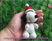 Snoopy - 3.5inches amigurumi crochet doll - READY to SHIP