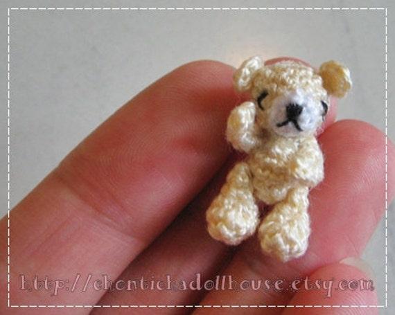 Items similar to Miniature Bear 0.8inches amigurumi ...