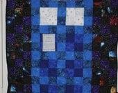"Tardis quilt wall hanging OOAK  32""x43"" - Free Shipping"