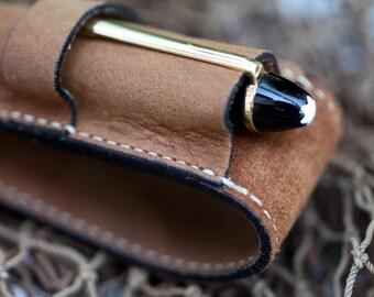 Leather Light  NU-BUCK Single pen case