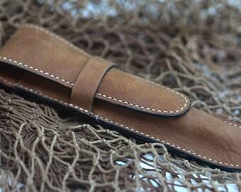 Leather Dark  NU BUCK Single pen case