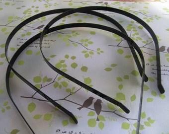25 Pcs 3mm black color metal Headbands