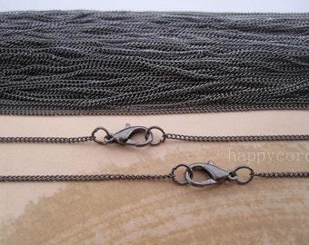 Sale 10pcs 19inch gunmetal necklace chain 1mmx2mm