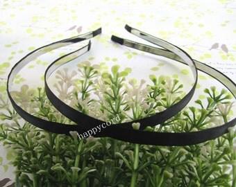 20pcs Metal Headbands with ribbon 5mm