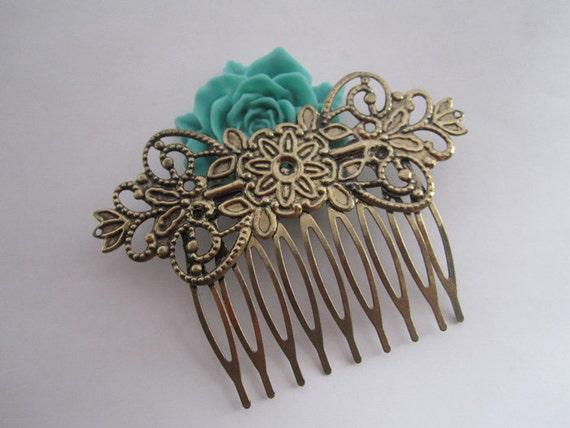 6 Pcs  30mmx70mm (20teeth) Antique Bronze Hair Combs