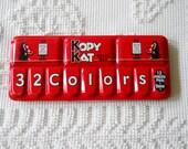 Vintage Kopy Kat Paint Box Children's Water Color Set Bright Red Tin Box USA