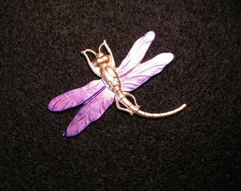 Purple Dragonfly Pin/Brooch