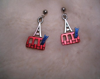 Ski Tram  Earrings