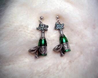 Celebration  Champagne Earrings.