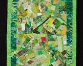 Spring Green Art Quilt Wallhanging