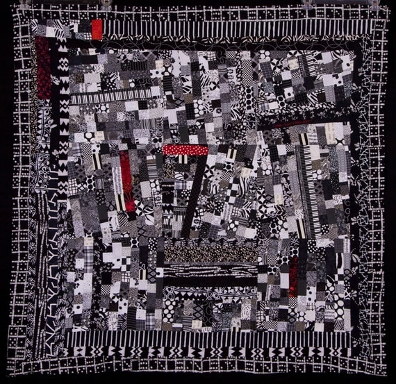 HARLEM: A Jazz and Blues Fine Art Abstract Quilt/FREE SHIPPING