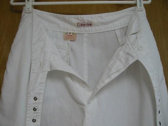 vintage white Calvin Klein pants 1960s size 12