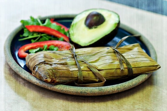 Items similar to Vegan Banana Leaf Tamales by the 1/2 dozen each ...