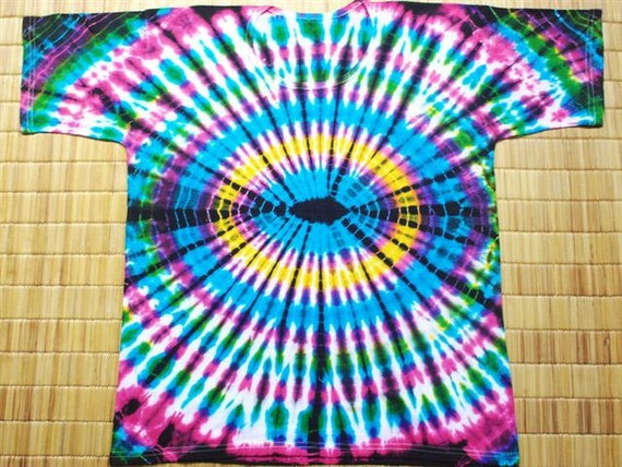 Tie dye shirts tie dye designs boho spiral tie dye red yellow for How to dye a shirt red
