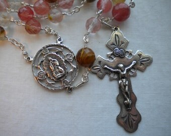 Exquisite Our Lady of Guadalupe Sterling Rosary