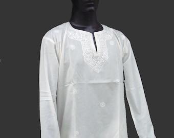 Long Sleeve Man Tunic Shirt spring summer party shirt Embroidered Handmade Shirt plus size Traditional Mens Shirt salwar kameez saree sale