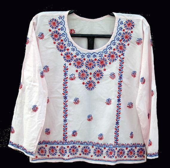 Pink dress women tunic kurta blouse shirt sari salwar kameez