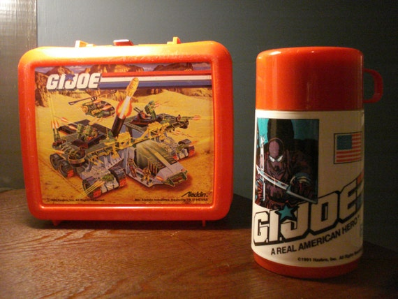 Vintage G.I. JOE Plastic Lunchbox and Thermos