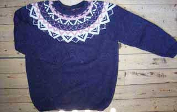 Fair Isle Scandinavian Wool Sweater