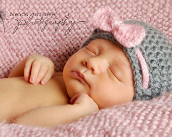 Newborn Girl Baby Girl Hat Knitted Crocheted Hat Clothes Photography Prop Baby Girl Knit Crochet Hat
