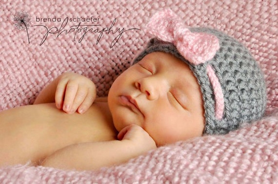 Baby Girl Hat Newborn Hat Baby Girl Clothes Knit Hat Crochet Hat Photography Prop Photo Prop