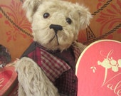 "Valentines OOAK Mohair jointed Artist Bear ""Chip Gamble"""