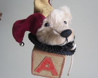 Ornament Mohair Bear Jester