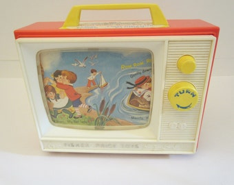 Fisher Price 1966 Two Tune Two Picture TV 114