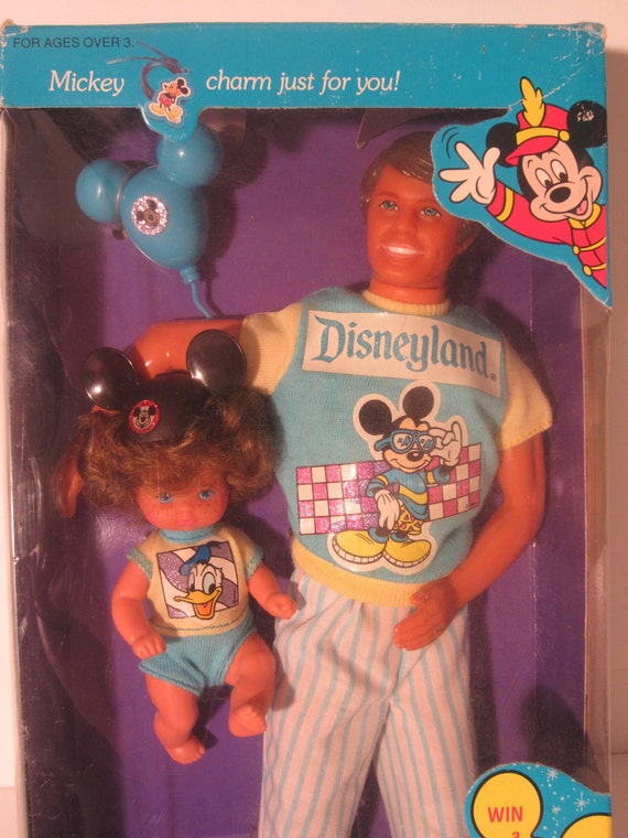 Heart Family vintage 1989 Dad and Baby Boy Disneyland