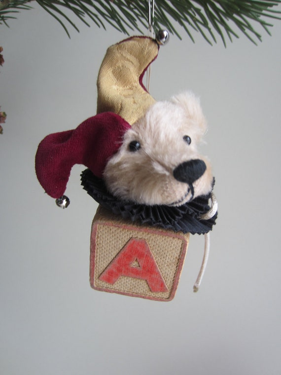 Ornament Mohair Bear Jester