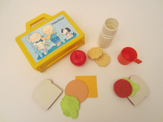 Fisher Price 1991 Lunch Box Set