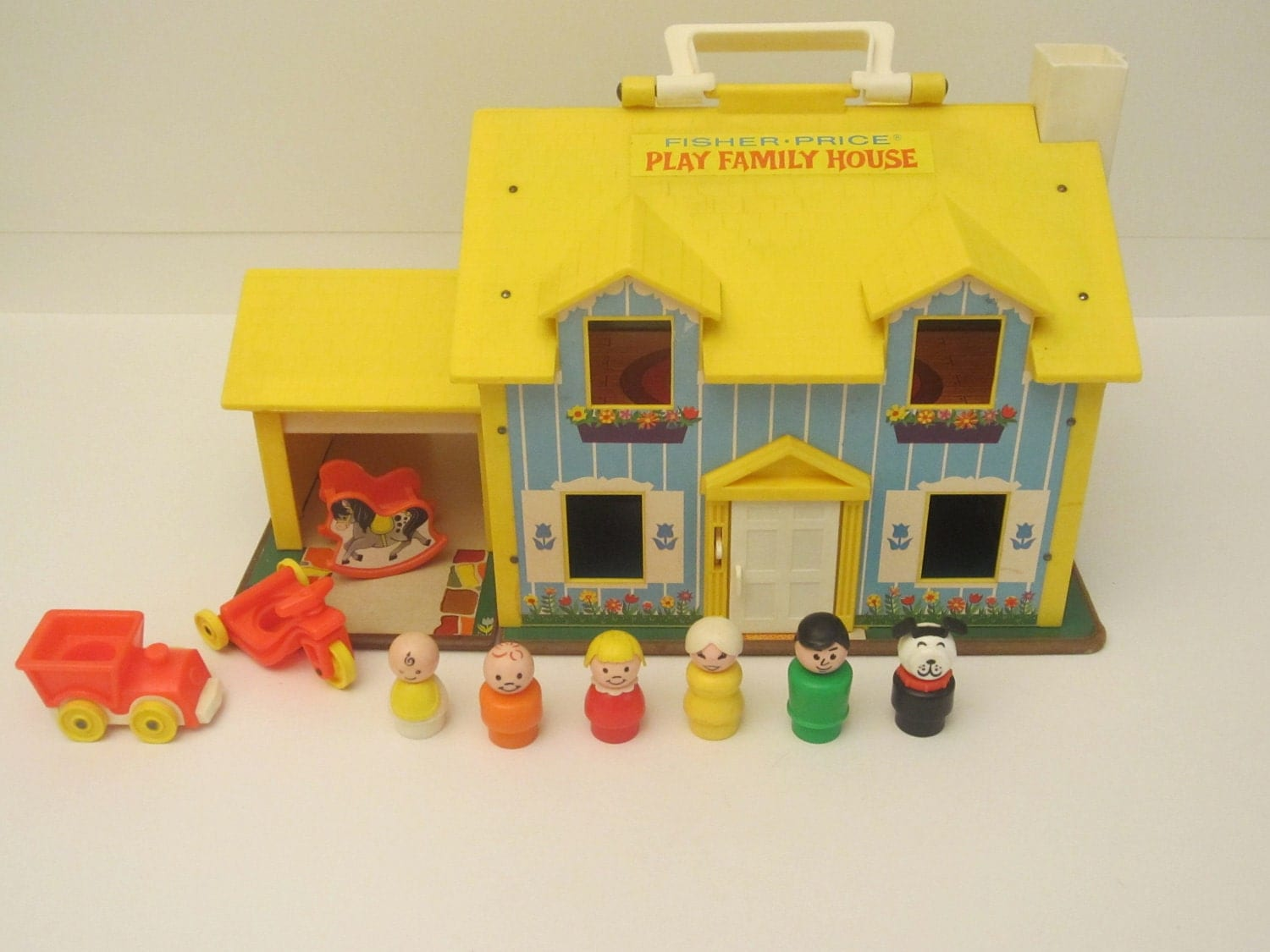 Fisher Price Play Family House Vintage 1969 FP 952
