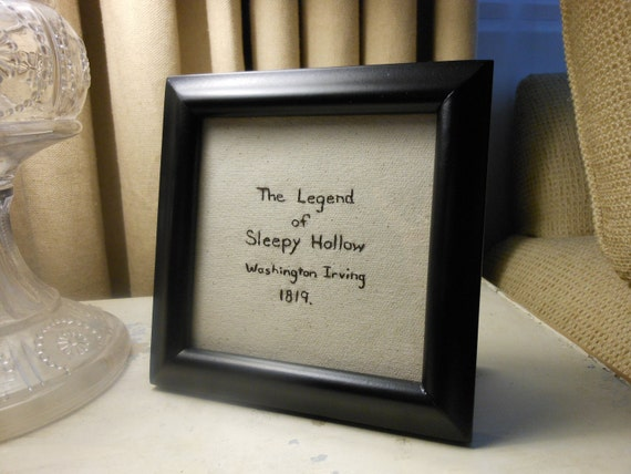 The Legend of Sleepy Hollow -Framed Embroidery