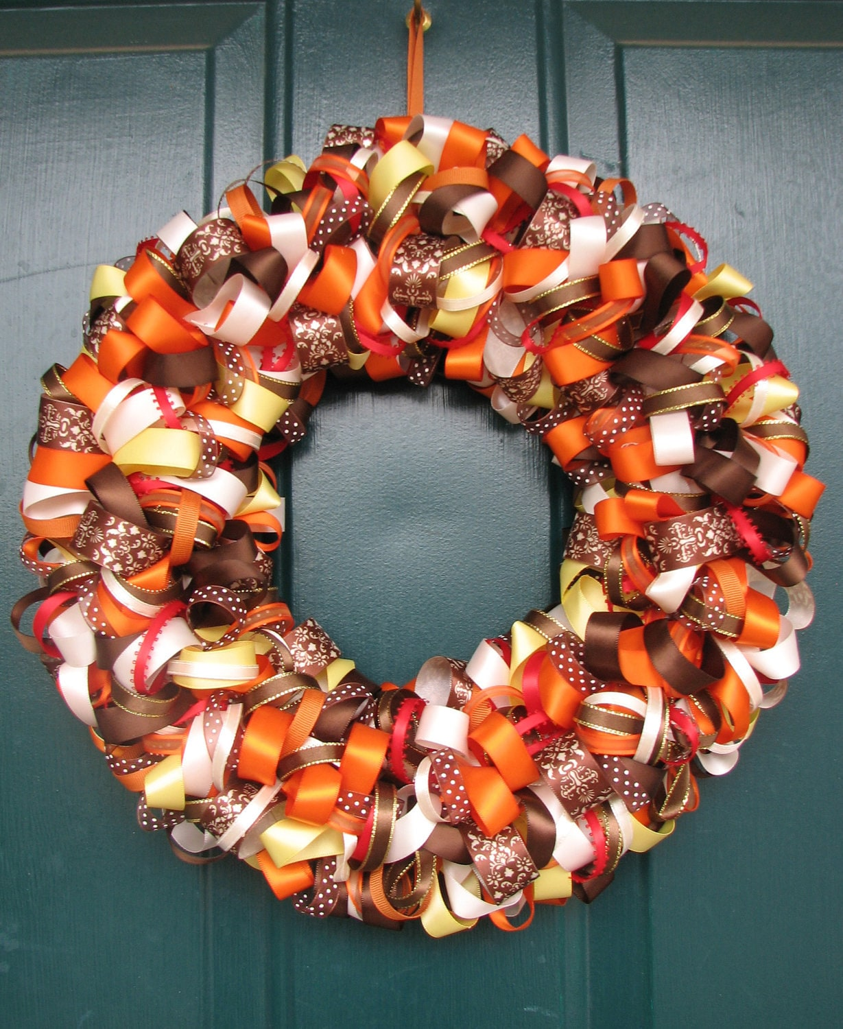 Beautiful Fall Ribbon Wreath