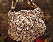 SOLD - Flower Crochet Tote
