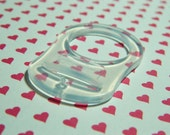 One MAM Button Style Pacifier Adapter - Silicone - Clear - Cute