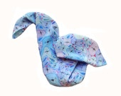 Hand Painted Pure Silk Scarf -FUNNY BUNNIES- Cold Batik. Easter. MADE to order